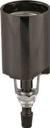 Cooper 1198-BOX Bottom Turn Knob Lampholder with Removable Knob