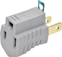 Cooper BP419GY Grounded Outlet Adapter