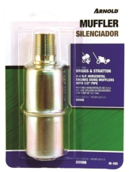 Arnold M-105 Sausage Thread-On Replacement Small Engine Muffler