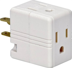Cooper 1482W-BOX Outlet Cube Tap/Adapter