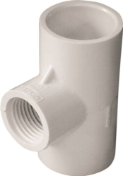 Genova Products 31481 PVC Reducing Tee