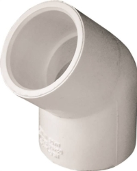 Genova Products 30607 PVC 45 Degree Elbow