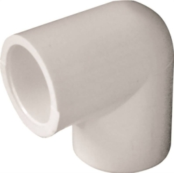 Genova Products 30705 PVC 90 Degree Elbow