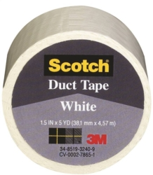 Scotch 1005-WHT-IP Colored Duct Tape