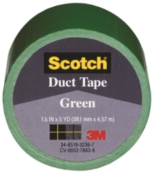 Scotch 1005-GRN-IP Colored Duct Tape