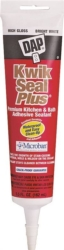 Dap 18526 Kwik Seal Plus Kitchen/Bath Adhesive Caulk