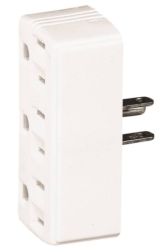 Cooper 1147W Grounding Cube Outlet Adapter
