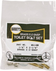 Harvey 051100 Toilet Bolt Set