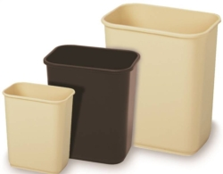 Continental 1358BK Rectangle Wastebasket