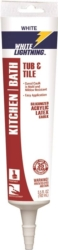 White Lightning 50512 Kitchen/Bath Adhesive Caulk