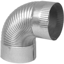Imperial GV0323 1-Piece Corrugated Stove Pipe Elbow