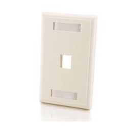 1-PORT KEYSTONE WALLPLATE WHT