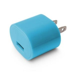 1A USB Wall Charger Blue