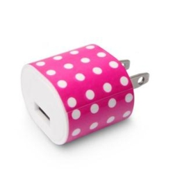 1A USB Wall Charger Polkadot
