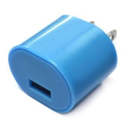 1amp USB Wall Charger Blue