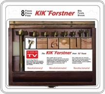8 Pc KIK Forstner Wood Case Set