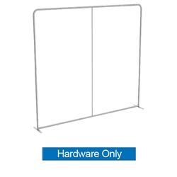 8ft Waveline Straight Display Hardware Only. Waveline backwalls  is the hottest new display on the market, lightweight and inexpensive. The best quality and largest variety of 8ft Waveline Displays for trade shows.