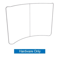 10ft Waveline Curved Backwall Hardware Only. Waveline 10ft Serpentine Kit is one of the easiest 10ft set ups on the market. Offers great graphic presence and is both affordable to purchase and ship.