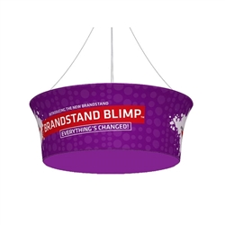 Double Side Print for 10ft x 42in Blimp Tapered Tube Hanging Tension Fabric Graphics Display present your brand, convey your message fast, up high and from all directions. Available in exciting shapes and practical sizes to meet trade show or event need.