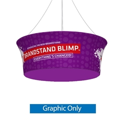10ft x 36in Double Side Graphic Print Only for Blimp Tapered Tube Hanging Fabric Display present your brand or convey your message fast, up high and from all directions. Available in exciting shapes and practical sizes to meet any trade show or event need