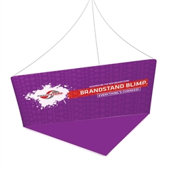 10ft Blimp Tapered Trio Hanging Banner 36in with Double Sided Print Fabric is a must have at your next trade show for booth. Hanging Banner Displays and Shapes for Trade Shows and Events. Rise Above Your Competition with Trade Show Hanging Banner Displays