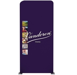 "40.6""x88.9"" Waveline Media Panel D Double Sided. It features an eye-catching booth that takes up very little space at trade show floor. Waveline Media Panels can be used individually or together, giving you greater flexibility to create any exhibit size."