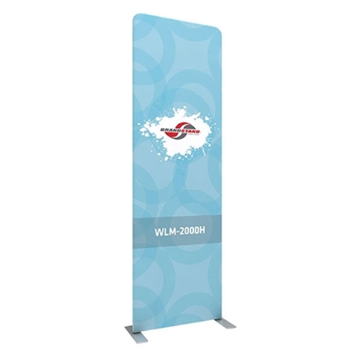 40w x 129.1h Waveline Media Panel H Single Sided is an easy and affordable solution for your trade show. Waveline Media Panel H Single Sided constructed with simple and lightweight, yet strong, aluminum tubing.