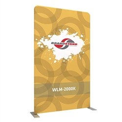 57in X 96.3in Waveline Media Panel K Single Sided Tension fabric displays are easily transported, and are known for their easy assembly, light weight and affordable replacement graphics. Waveline displays are some of most affordable display systems.