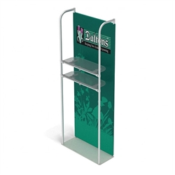 3ft x 10ft Merchandiser Display Black Plate Kit 2 with 2 shelf represent the latest developments in the evolution of event and trade show display technology. Merchandiser 8 FT Display is a terrific way to feature merchandise at your tradeshow!