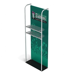 3ft x 8ft Merchandiser Display Black Plate Kit 2 with 2 shelf represent the latest developments in the evolution of event and trade show display technology. Merchandiser 8 FT Display is a terrific way to feature merchandise at your tradeshow!