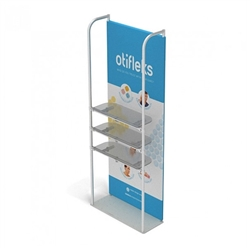 3ft x 10ft Merchandiser Display White Plate Kit 3 with 3 shelf represent the latest developments in the evolution of event and trade show display technology. Merchandiser 8 FT Display is a terrific way to feature merchandise at your tradeshow!