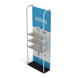 3ft x 8ft Merchandiser Display Black Plate Kit 2 with 3 shelf represent the latest developments in the evolution of event and trade show display technology. Merchandiser 8 FT Display is a terrific way to feature merchandise at your tradeshow!