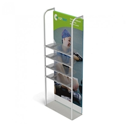 3ft x 10ft Merchandiser Display White Plate Kit 4 with 4 shelf represent the latest developments in the evolution of event and trade show display technology. Merchandiser 8 FT Display is a terrific way to feature merchandise at your tradeshow!