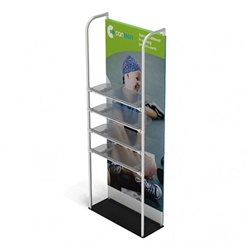 3ft x 10ft Merchandiser Display Black Plate Kit 4 with 4 shelf represent the latest developments in the evolution of event and trade show display technology. Merchandiser 8 FT Display is a terrific way to feature merchandise at your tradeshow!