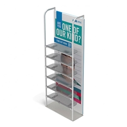 3ft x 10ft Merchandiser Display White Plate Kit 6 with 6 shelf represent the latest developments in the evolution of event and trade show display technology. Merchandiser 8 FT Display is a way to feature merchandise at your tradeshow
