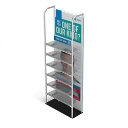 3ft x 10ft Merchandiser Display Black Plate Kit 6 with 6 shelf represent the latest developments in the evolution of event and trade show display technology. Merchandiser 8 FT Display is a way to feature merchandise at your tradeshow