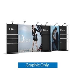 Replacement fabric for 10ft Merchandiser Backwall Display Kit 4. Merchandiser Backwall is an increasingly popular choice amongst retailers, exhibitors to conserve space while showcasing a variety of products