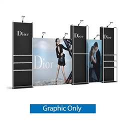 Replacement fabric for 10ft Merchandiser Backwall Display Kit 4A. Merchandiser Backwall is an increasingly popular choice amongst retailers, exhibitors to conserve space while showcasing a variety of products