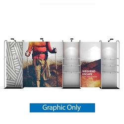 20ft WaveLine Merchandiser - Kit 04  - Single-Sided  Graphic  Only .  Choose this easy, impactful and affordable display to stand out from your competition at your next trade show.