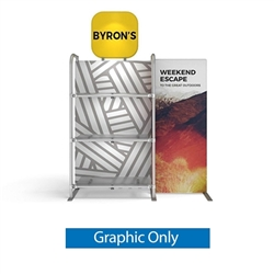 5ft WaveLine Merchandiser - Kit S01 - Single-Sided  Graphic  Only .  Choose this easy, impactful and affordable display to stand out from your competition at your next trade show.