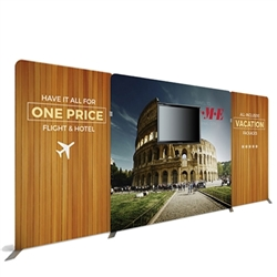 20ft Atlantic A Makitso Waveline Media Single-Sided Fabric Display With TV Mount is one of the most popular exhibits. It is affordable, easy to set up and looks amazing. Works like a large pillow case.