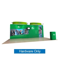 20ft Waveline Media Tension Fabric Display by Makitso - Dolphin C - Hardware Only.  Choose this easy, impactful and affordable display to stand out from your competition at your next trade show.