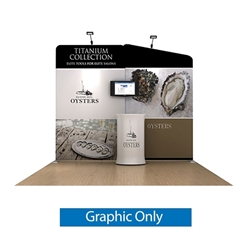10ft Waveline Media Tension Fabric Display by Makitso -  Oyster B - Single Sided Graphic Only.  Choose this easy, impactful and affordable display to stand out from your competition at your next trade show.