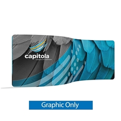 20ft (232in x 88in) WaveLine Media Fabric Display by Makitso - Serpentine - Single Sided Graphic Only. Choose this easy, impactful and affordable display to stand out from your competition at your next trade show.