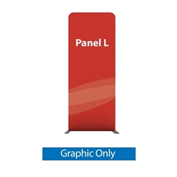 79in X 129.1in WaveLine Media Fabric Display by Makitso - Panel L - Single Sided Graphic Only. Choose this easy, impactful and affordable display to stand out from your competition at your next trade show.