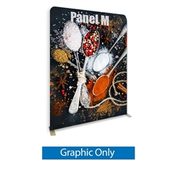 79in X 96.3in WaveLine Media Fabric Display by Makitso - Panel M - Single Sided Graphic Only. Choose this easy, impactful and affordable display to stand out from your competition at your next trade show.