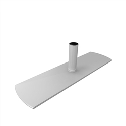WaveLine Single Hole Edge Foot. WaveLine single edge foot with aluminum necking for the WaveLine series of exhibit systems.
