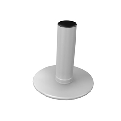 WaveLine Single Hole Circular Foot. WaveLine single edge foot with aluminum necking for the WaveLine series of exhibit systems.