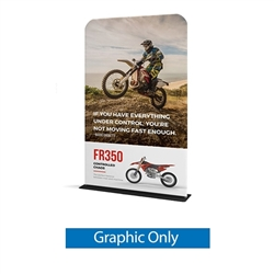 48in x 60in WaveLine Banner Stand -  Rounded Corners,  Single-Sided Graphic Only.  Choose this easy, impactful and affordable display to stand out from your competition at your next trade show.