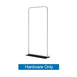48in x 60in WaveLine Banner Stand -  Rounded Corners, White Base - Hardware Only.  Choose this easy, impactful and affordable display to stand out from your competition at your next trade show.